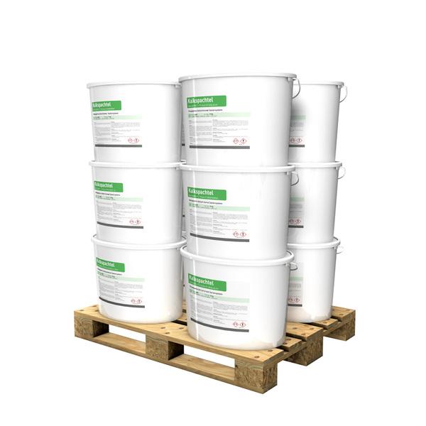 Kalkspachtel / Glätte 15kg Eimer in weiß auf Palette