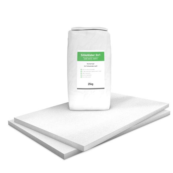 30 mm Sparpack mit vorgrundierten Kalziumsilikatplatten (1.000 mm x 625 mm) & Silikatkleber