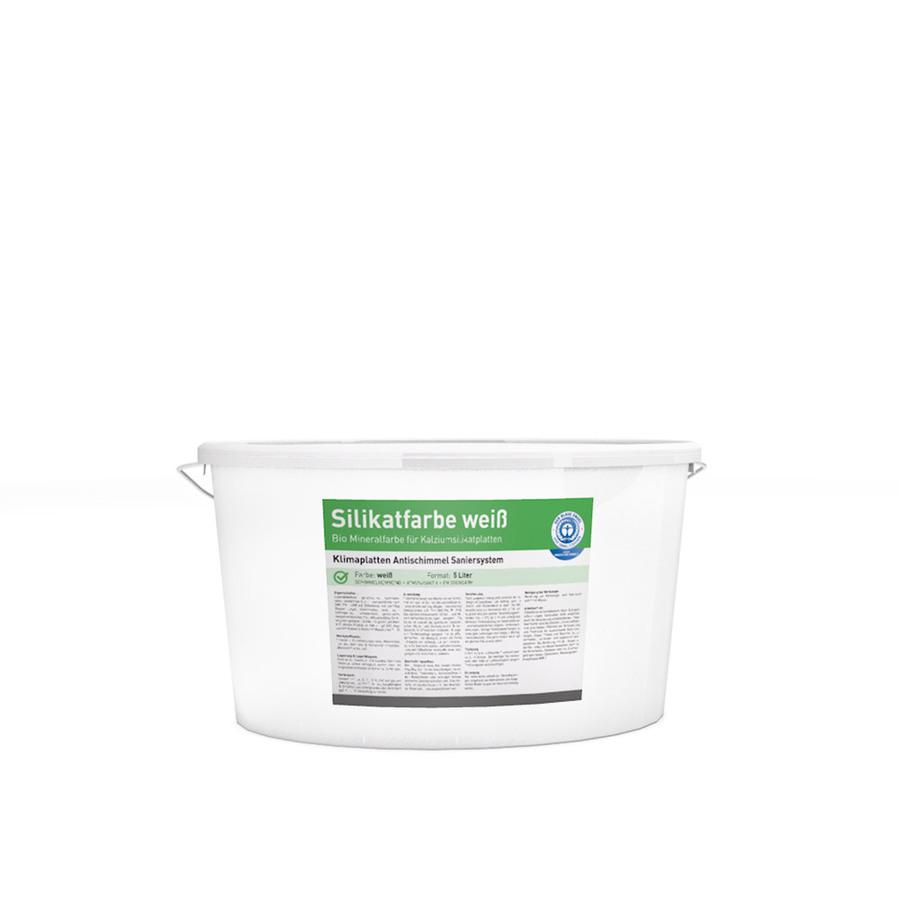 Silikatfarbe / Anti-Schimmel-Farbe 5L Eimer in weiß auf Palette
